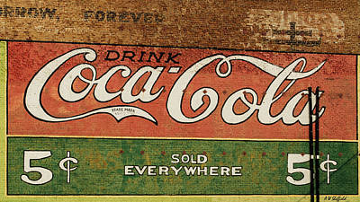 Photograph - Galveston - Coca Cola by Allen Sheffield