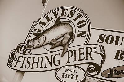 Photograph - Galveston Fishing Pier  by John McGraw