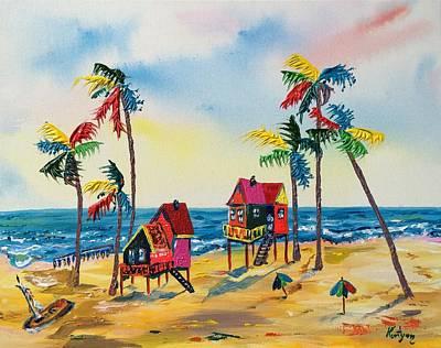 Galveston Houses Original by Alberto Kurtyan