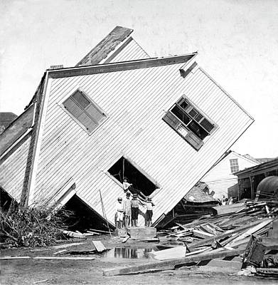 Galveston Hurricane Damage Art Print by Library Of Congress