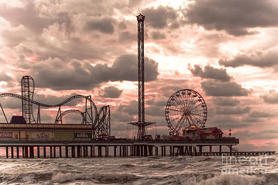 Roller Coaster Photograph - Galveston Island Morning by Robert Frederick