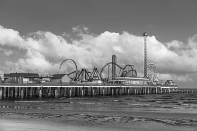 Photograph - Galveston Pier Black And White  by John McGraw