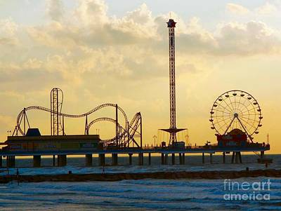 Photograph - Galveston Pleasure Pier Early Morning by Audrey Van Tassell