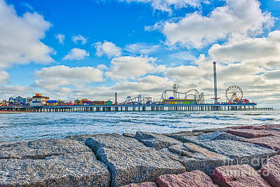 Surf Photograph - Galveston Pleasure Pier  by Tod and Cynthia Grubbs