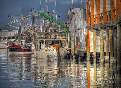 Art Print featuring the photograph Galveston Shrimp Boats by Savannah Gibbs