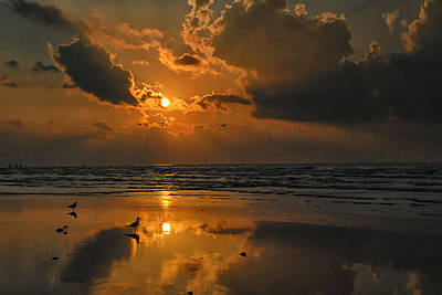 Galveston Sunrise Art Print