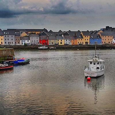 Cityscape Wall Art - Photograph - #galway #ireland #houses #sea #atlantic by Luisa Azzolini