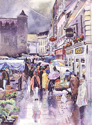 Galway Market County Galway Ireland Art Print by Keith Thompson