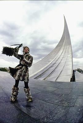 Photograph - Galya Milovskaya Wearing Fur by Arnaud de Rosnay