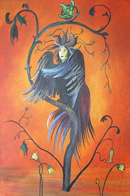 Painting - Gamaun The Prophetic Bird by Tracey Harrington-Simpson