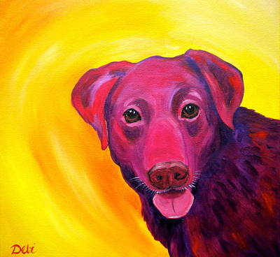 Puppy Lover Painting - Gambit by Debi Starr