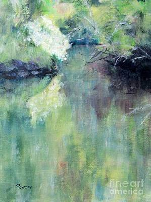 Art Print featuring the painting Gamble Creek by Mary Lynne Powers