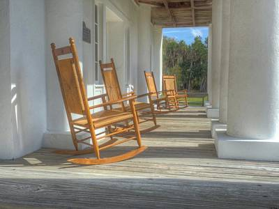 Gamble Mansion Porch And Chairs Original by William Ragan