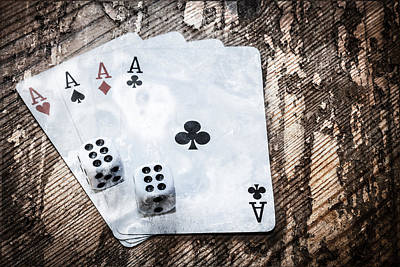 Photograph - Gambling Grunge by Semmick Photo