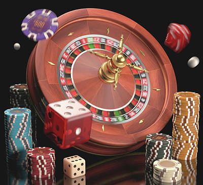 Roulettes Photograph - Gambling by Ktsdesign
