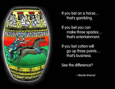 Gambling Art Print by Mike Flynn