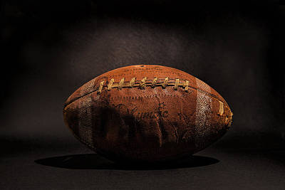 Football Photograph - Game Ball by Peter Tellone