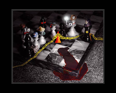 Game - Chess - It's Only A Game Art Print by Mike Savad