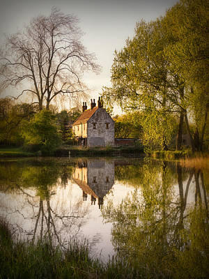 Reflections In Water Photograph - Game Keepers Cottage Cusworth by Ian Barber