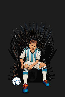 Game Of Thrones King Lionel Messi House Catalunya Art Print by Akyanyme