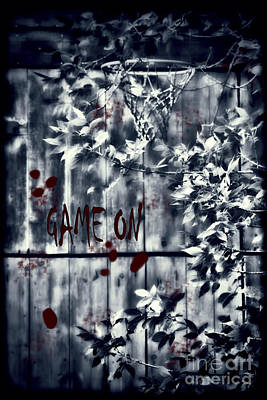 Photograph - Game On Basketball Blue by Cathy  Beharriell