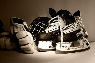 Pond Hockey Photograph - Game Time by John Turner