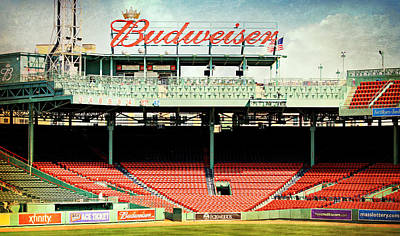 The Green Monster Photograph - Gameday Ready At Fenway by Stephen Stookey