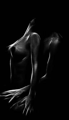 Female Body Digital Art - Games In The Dark by Steve K