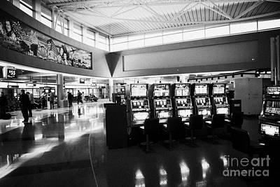 gaming gambling machines in mccarran international airport Las Vegas Nevada USA Art Print