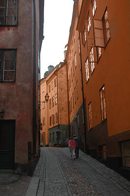 Photograph - Gamlastan-stockholm by Ali ArtDesign