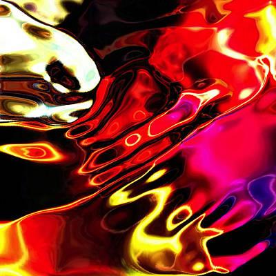 Digital Art - Gamma Swirl Pinch by Paulo Guimaraes