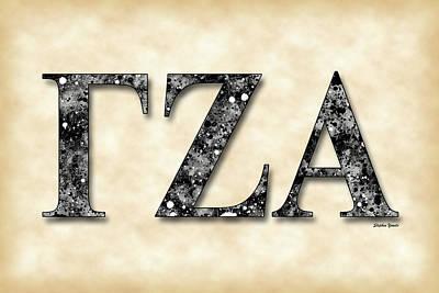 Gamma Zeta Alpha - Parchment Art Print