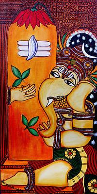 Painting - Ganapathy by Saranya Haridasan