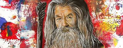Wizard Drawing - Gandalf by Anastasis  Anastasi