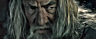 Lord Of The Rings Painting - Gandalf by Florian Rodarte