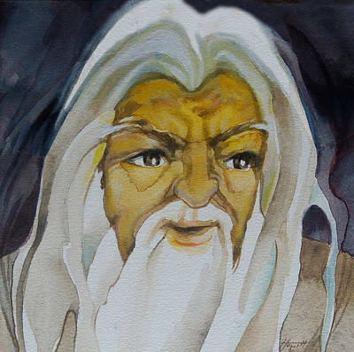Painting - Gandalf Headstudy by Patricia Howitt
