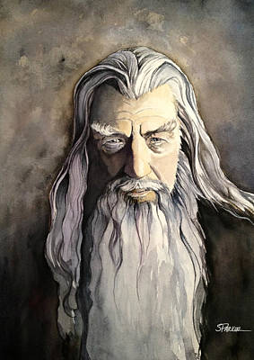 Gandalf Painting - Gandalf by Scott  Parker