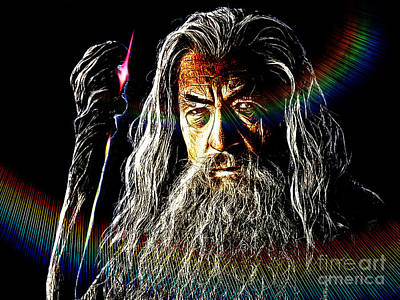 Elf Mixed Media - Gandalf by The DigArtisT