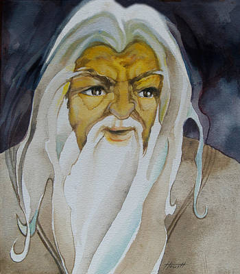 Painting - Gandalf The White by Patricia Howitt
