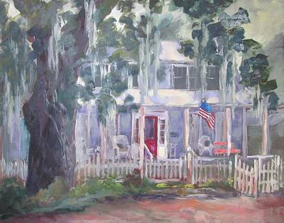 Town Of Franklin Painting - Gander House by Susan Richardson