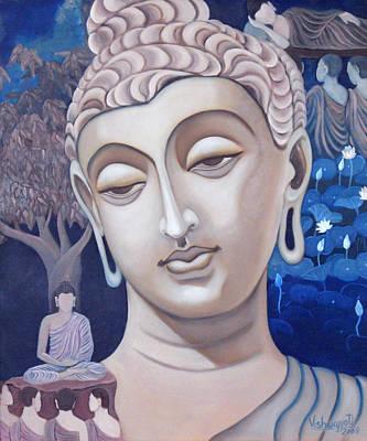 Gandhara Buddha Art Print by Vishwajyoti Mohrhoff