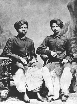Young Man Photograph - Gandhi Brothers by Underwood Archives