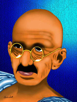 Charles Smith Painting - Gandhi by Charles Smith