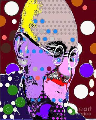 Digital Art - Gandhi by Ricky Sencion