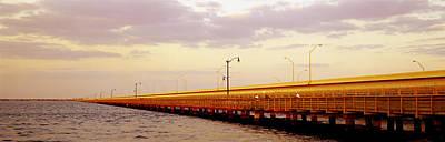Florida Bridge Photograph - Gandy Bridge Tampa Bay Tampa Fl by Panoramic Images