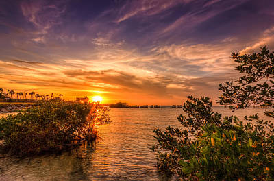 Seashore Photograph - Gandy Sunset by Marvin Spates