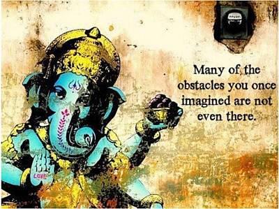 Ganesh - Ganesha - Indian Elephant  Art Print
