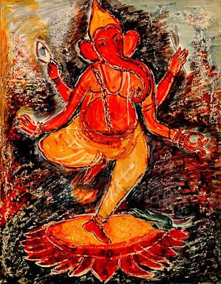 Painting - Ganesh- 8 by Anand Swaroop Manchiraju
