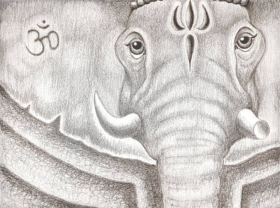 Ganesh Art Print by Adam Wood