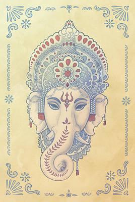 Ganesh Art Print by Alden Hardee